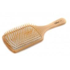Plaukų šepetys medinis, mediniai dantukai Eurostil 01919